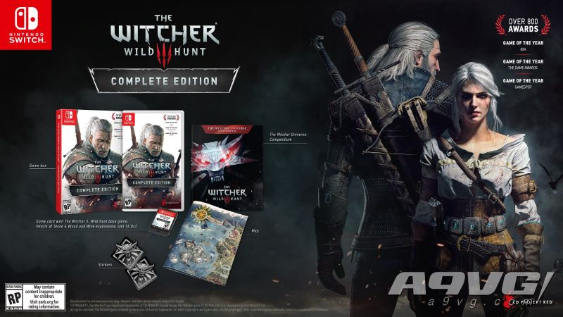 Switch《巫师3:狂猎 完全版》分辨率及容量公开