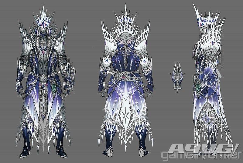 《守节打人者广雅 Iceborne》冰呪龙套装和武器造型大量新图公开