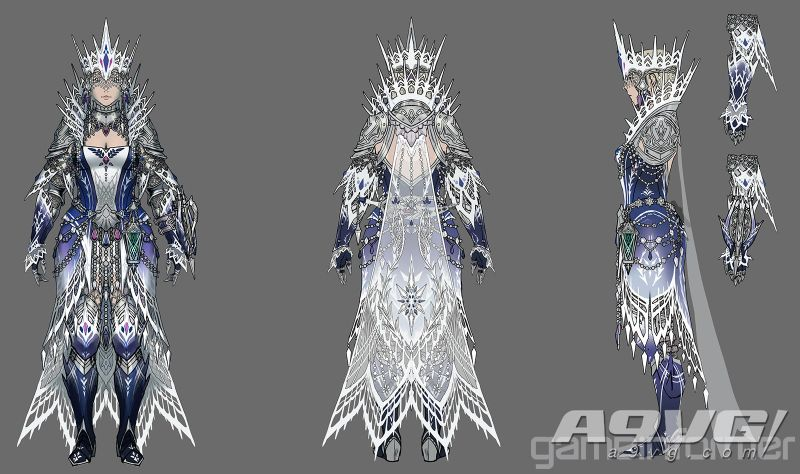 《佛得角蓝孔雀吴青 Iceborne》冰呪龙套装和武器造型大量新图公开