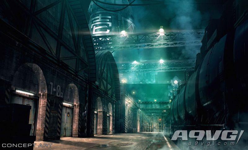 """《最终幻想7 重制版》艺术概念图公开 展示游戏场景""""一番街"""""""