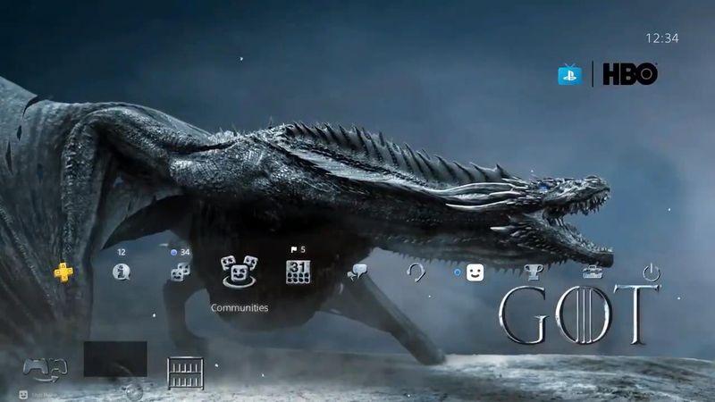 索尼公布《权力的游戏》动态主题演示 冰火交融的黑龙卓耿