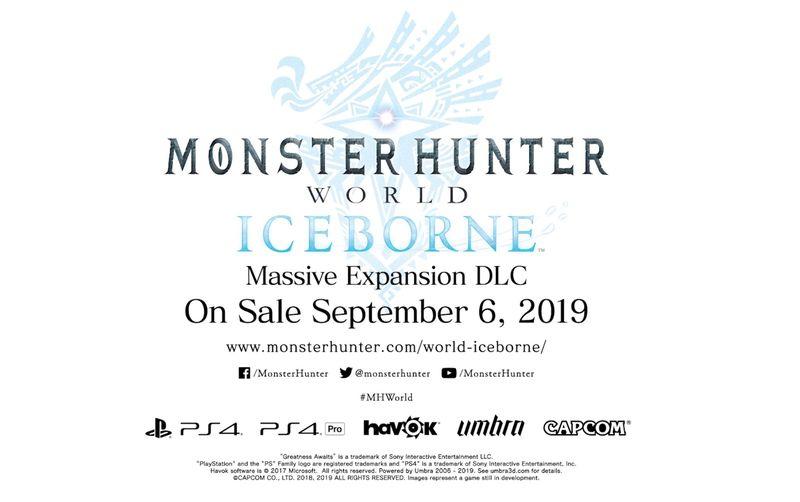 《嚎天动地占地约言芳行洁 Iceborne》发售日正式公布 9月6日正式登场