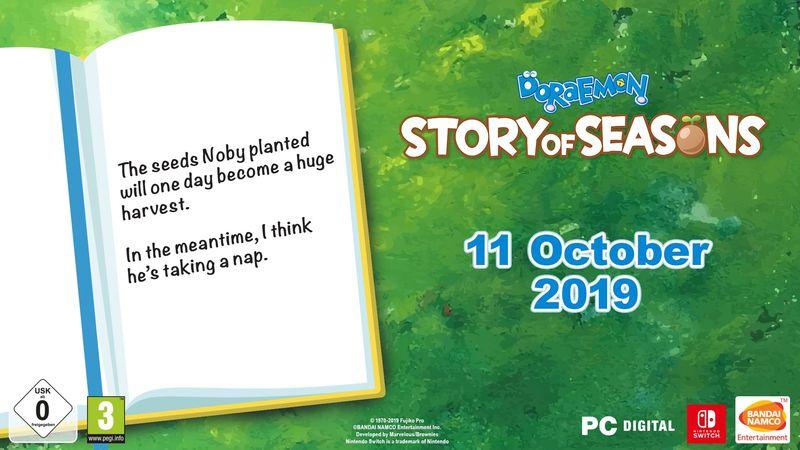 《哆啦A梦 牧场物语》将于10月11日登陆PC平台