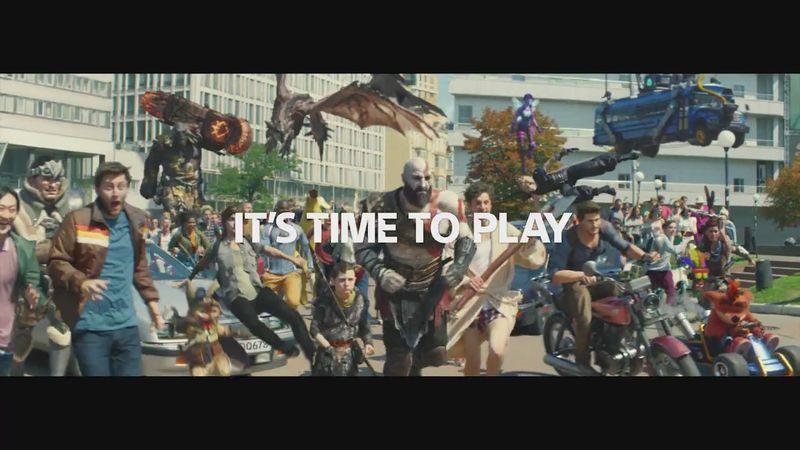 PS4最新宣传片「It's time to play!」 众多游戏明星齐聚