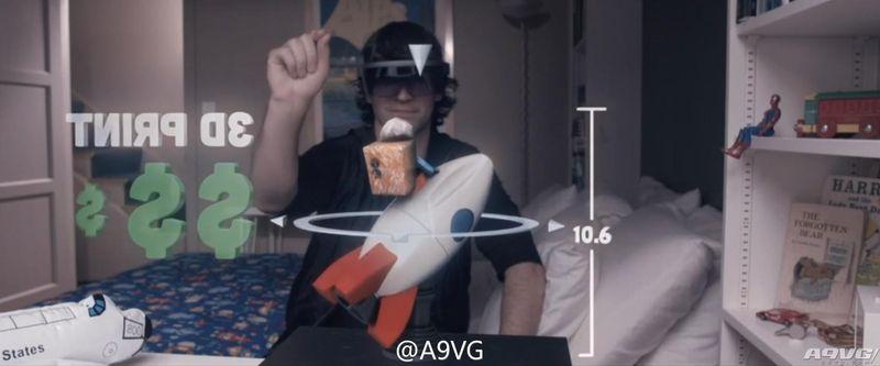 微软全息AR增强现实眼镜HoloLens公开!Windows 10支持 仍在研发初期但已可试用