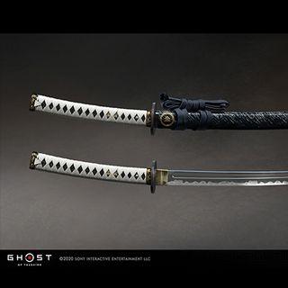 SIE员工用赢来的刀锷还原了《对马岛之魂》中的同款刀具