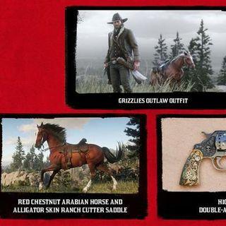 PS4版《荒野大镖客2》限时独占道具内容公开