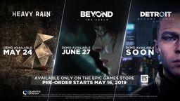Quantic Dream公布多款游戲的PC版發售日及試玩時間