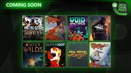 《合金装备生存》《黎明杀机》等8款游戏即将加入XGP