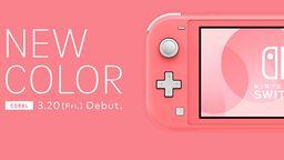 任天堂將于3月20日發售新顏色Switch Lite主機:珊瑚粉