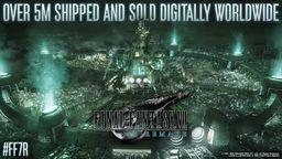 《最终幻想7 重制版》全球累计销售量超过500万套