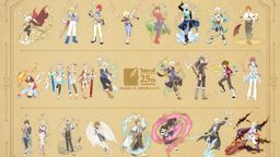 「传说系列」25周年纪念系列主角全新立绘图公布