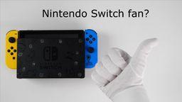 《堡垒之夜》特别版Switch套装开箱 特制Joy-Con和底座