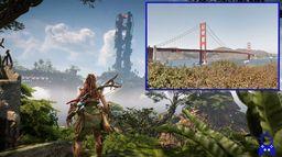《地平线 西之绝境》游戏场景与现实世界旧金山的对比