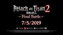 《进击的巨人2 最终之战》正式发表 加入第三季角色等内容