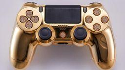 真土豪金PS4手柄:有镶钻按键和镀金外观 售价接近10万元