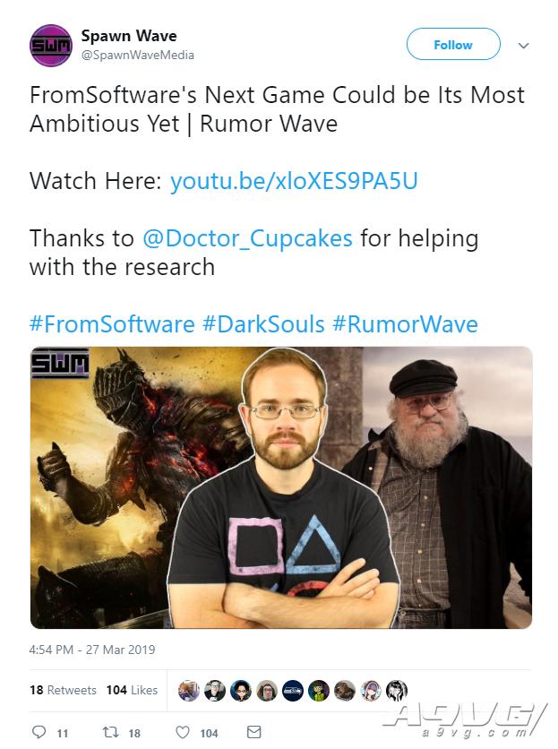 传闻:FromSoftware将与《冰与火之歌》作者合作推出魂系新作