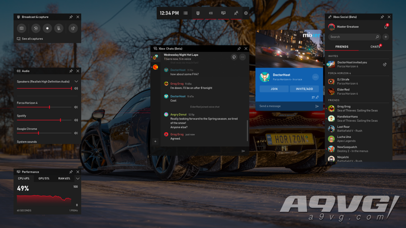 Spotify、聊天及更多内容将登陆 Windows 10游戏栏