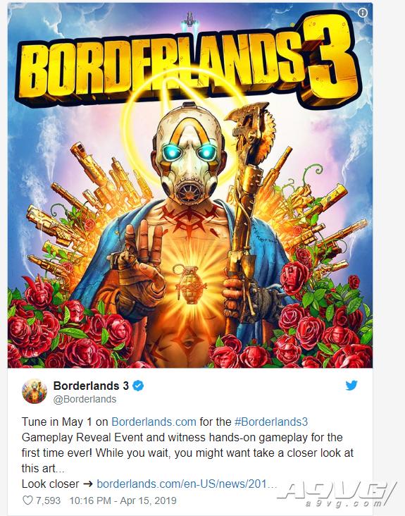 《无主之地3》实机演示将于5月2日公开 将公布更多情报