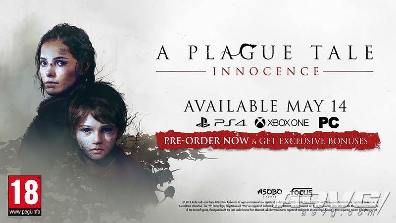 《瘟疫传说 无罪》发布售前预告片 游戏将于5月14日推出