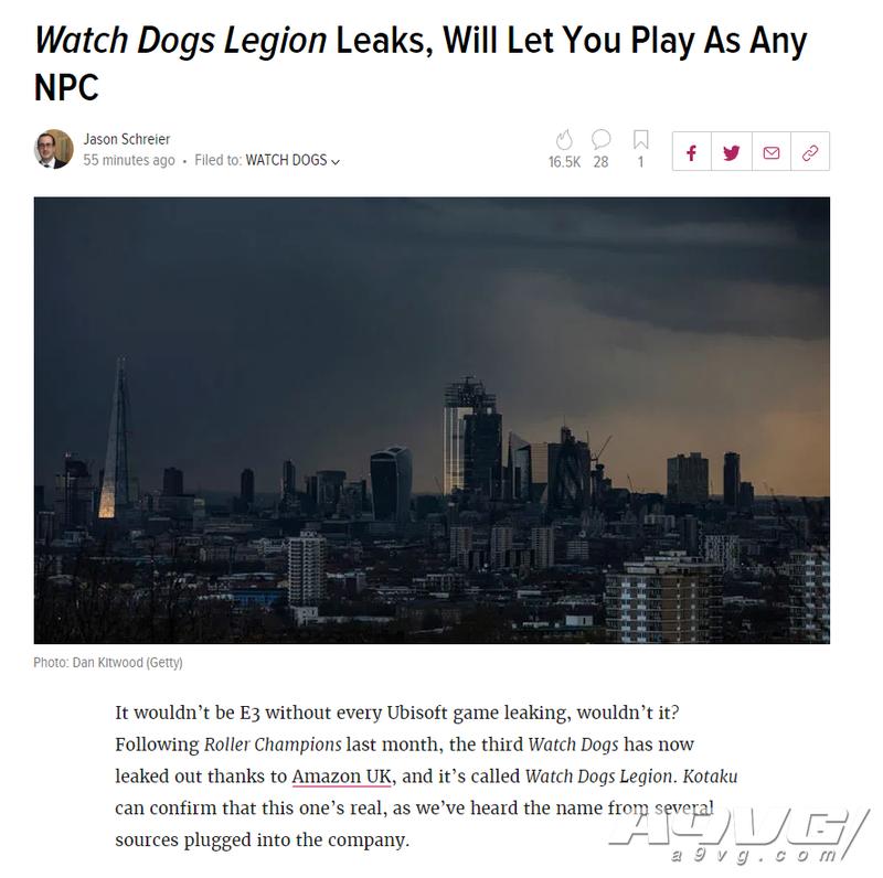 《看门狗》新作《Legion》泄露 在未来伦敦扮演每一位角色