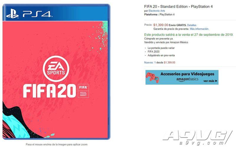墨西哥亚马逊透露《FIFA20》发售日期 登陆PS4/Xbox One/NS