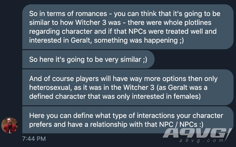 《賽博朋克2077》會有比《巫師3》更多的浪漫選擇
