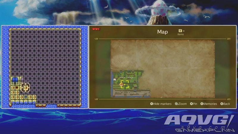 《塞尔达传说 织梦岛》NS版与GBC版画面对比 场景忠实还原