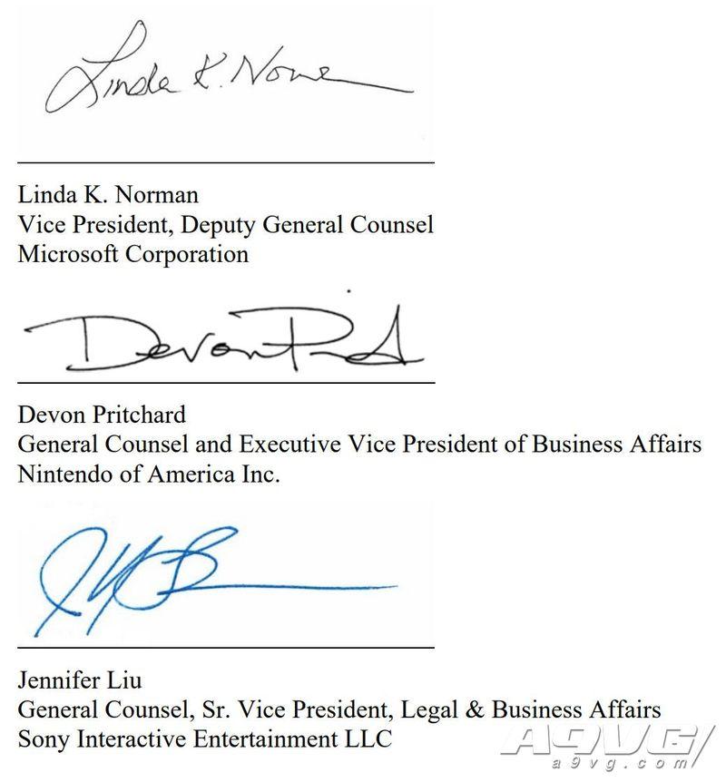 索尼微软任天堂发表联合声明 抵制美国对游戏机征收高额关税