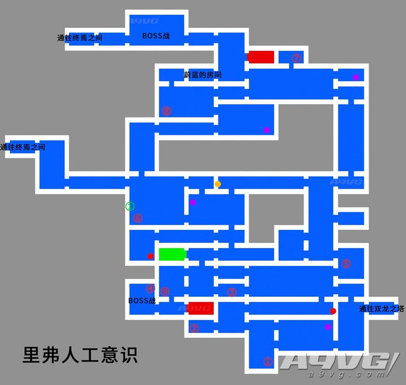 《血污 夜之仪式》里弗人工意识地图强化道具、宝箱位置