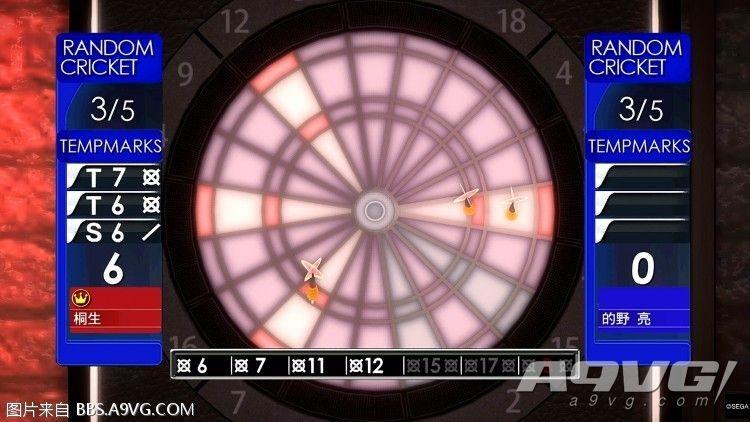 《如龙5 HD版》飞镖小游戏高级飞镖完美零封演示视频