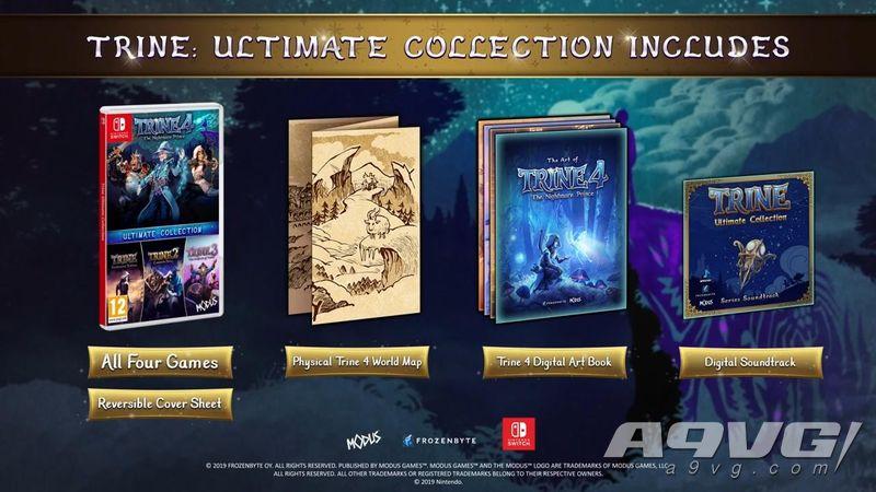 《三位一体 终极合集》登陆Switch平台 包含全四部作品