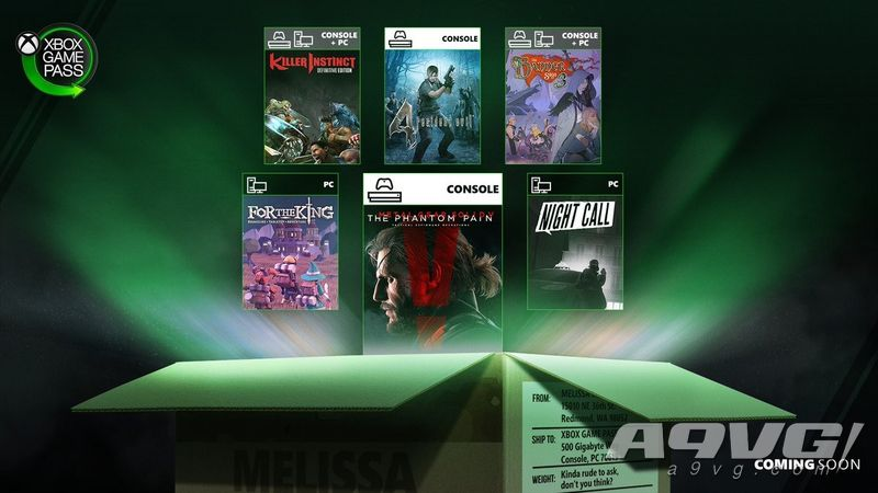《合金装备5 幻痛》等六款作品将加入Xbox Game Pass