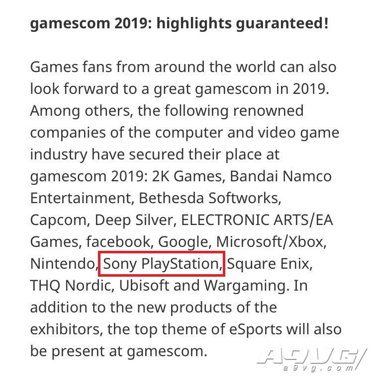 索尼确认参加今年的科隆游戏展与TGS 时隔数月重返大型展会
