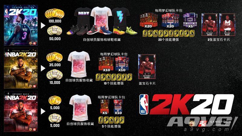 《NBA 2K20》国行PS4版售价公布 数字版包含3种不同版本