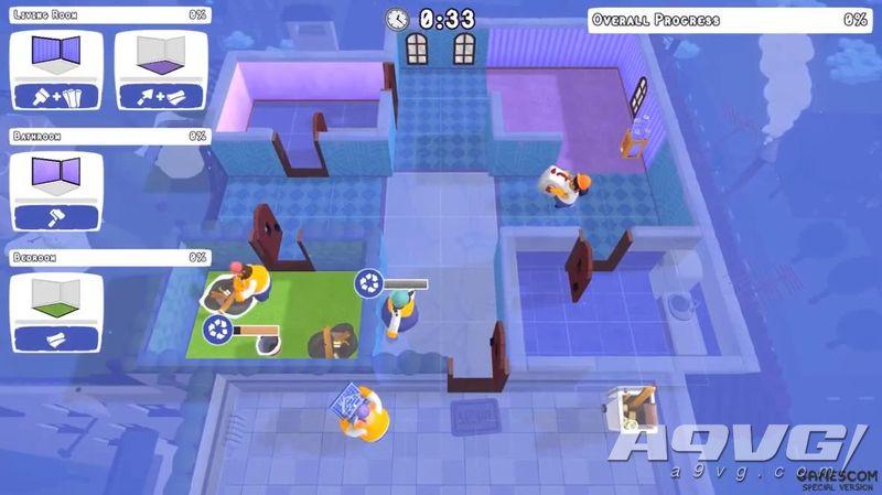 《Tools Up! 》科隆游戏展实机试玩视频公开 四人合作装修公寓