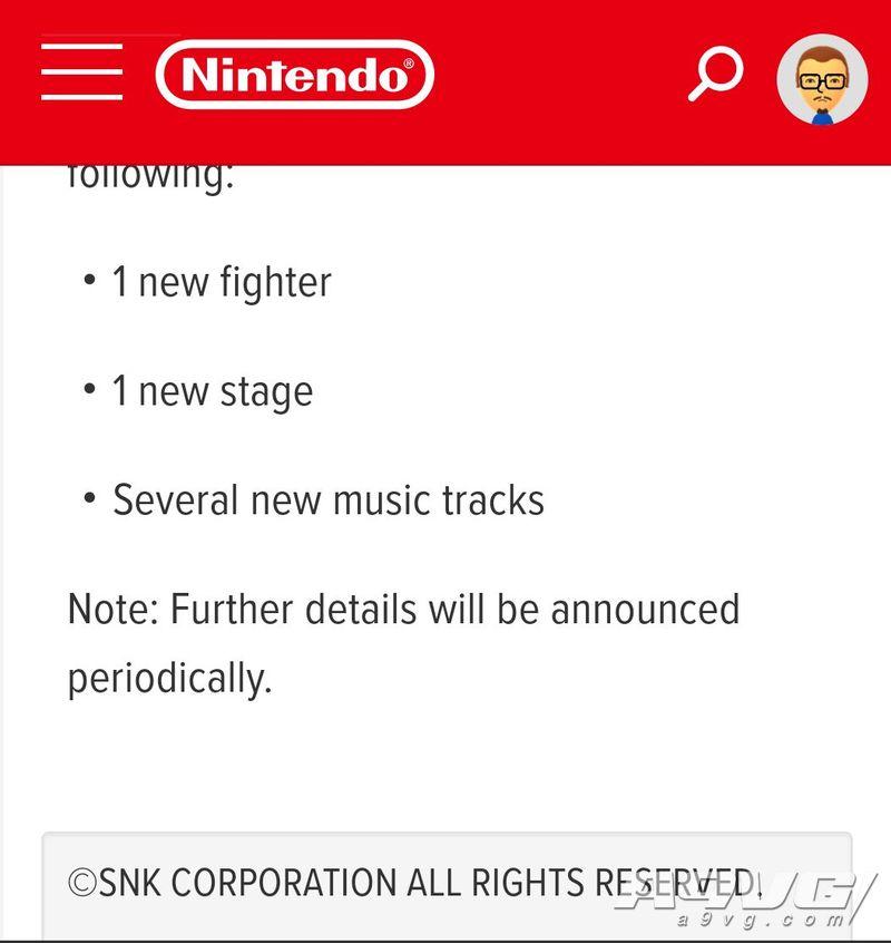 传闻:《任天堂明星大乱斗 特别版》第四位DLC斗士或来自SNK