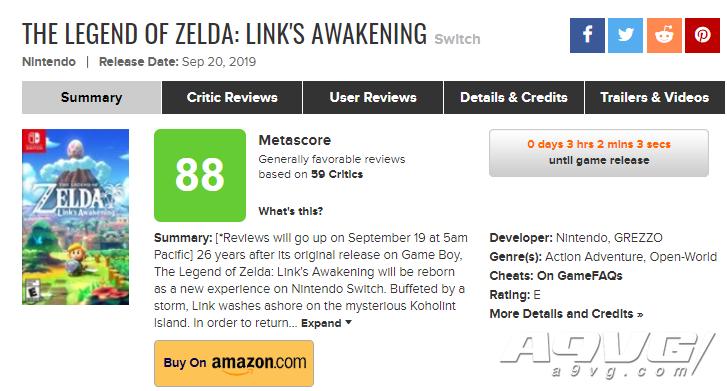 《塞尔达传说 织梦岛》全球媒体评分解禁 IGN 9.4分 GS 8.0分