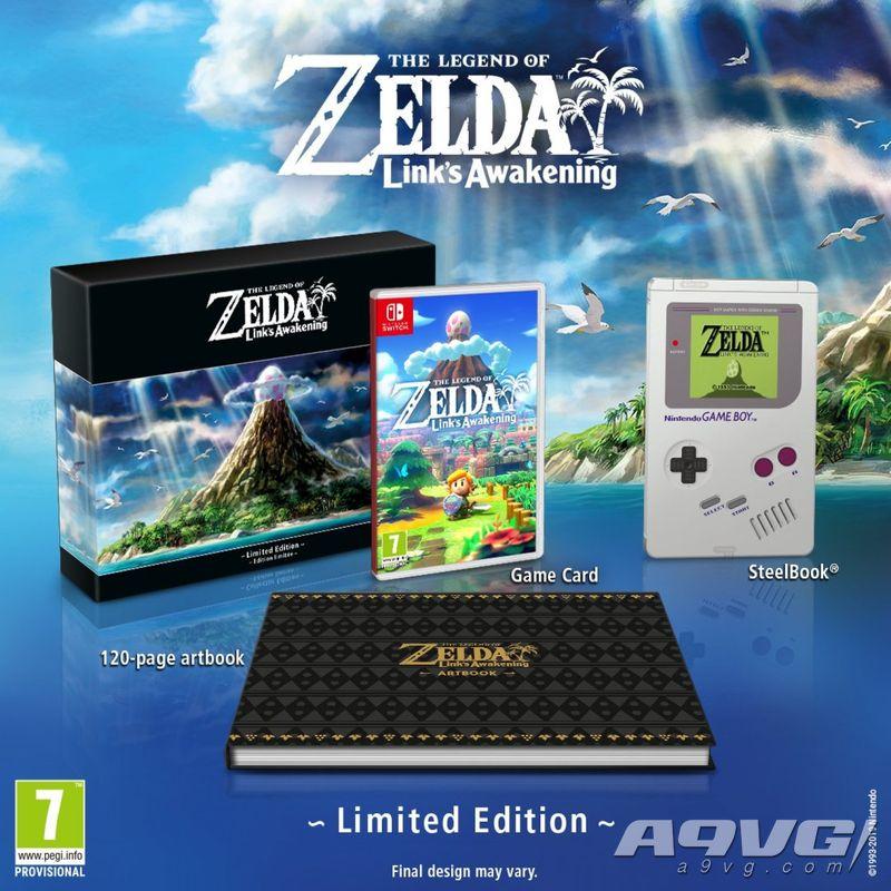 《塞尔达传说 织梦岛》欧版限定版开箱视频 附带GB造型铁盒