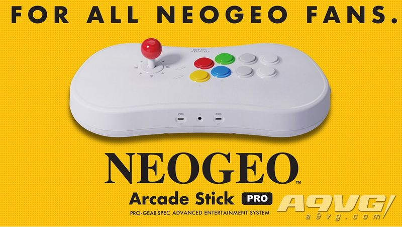 NEOGEO Arcade Stick Pro公开主要特性和详细收录游戏列表