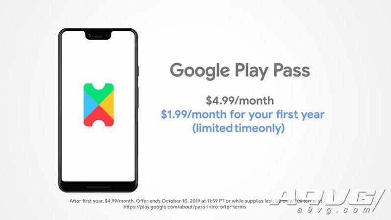 谷歌推出Play Pass订阅服务 限时优惠1.99美元/月