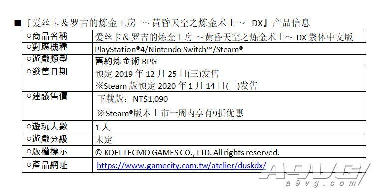 《工作室》系列黄昏三部曲公布中文版发售日期 仅推出下载版