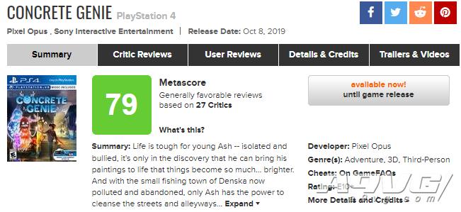 《壁中精灵》全球媒体评分解禁 MC平均分79 IGN 8分