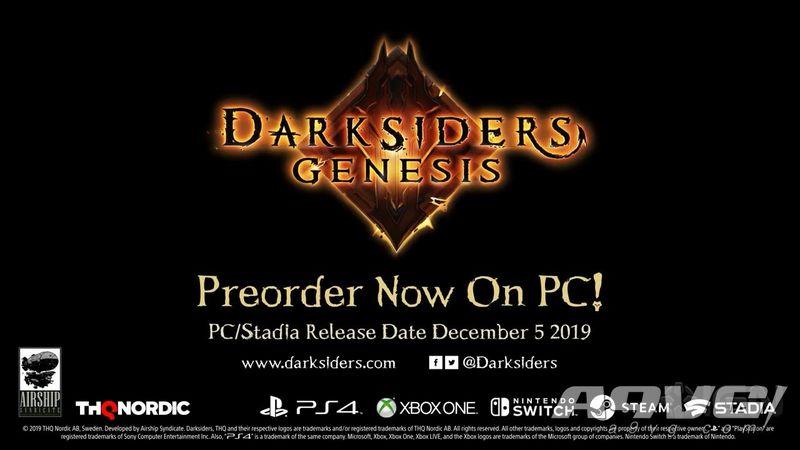 《暗黑血统 创世纪》将于12月5日登陆PC 明年2月登陆主机