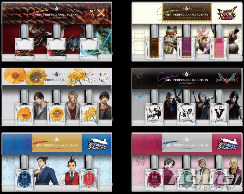 CAPCOM商店东京推出《怪猎》《鬼泣》等经典IP的香水套装