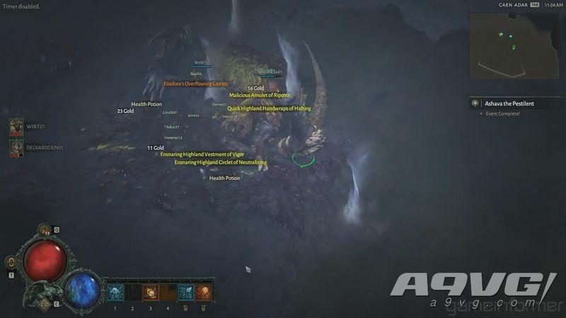 《暗黑破壞神4》世界Boss演示 十多位玩家協同作戰