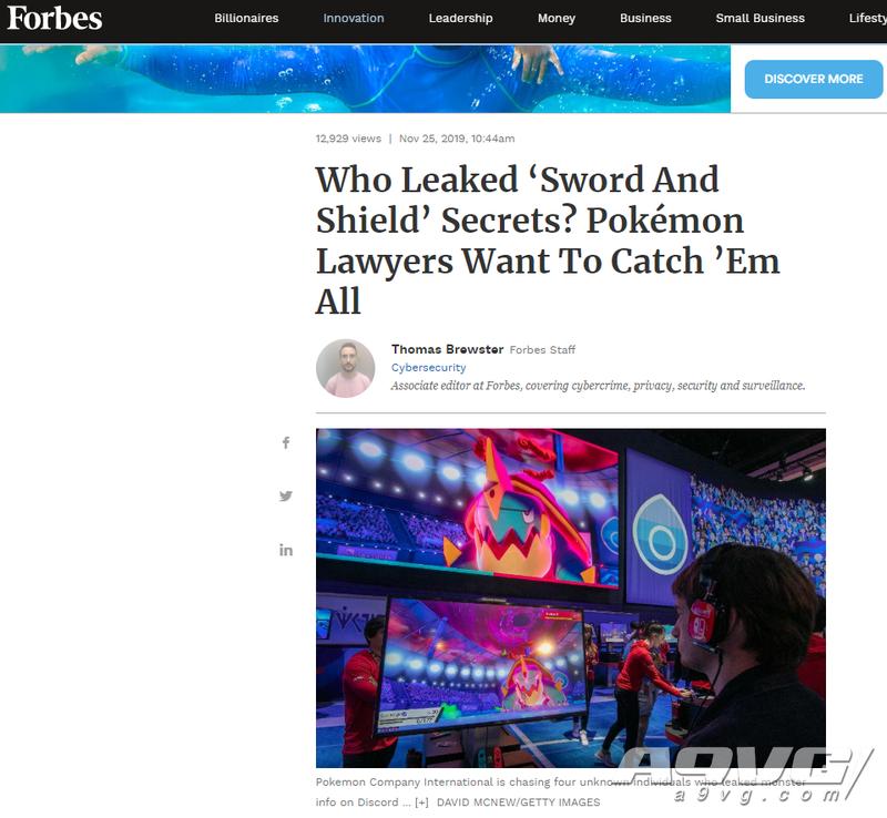 宝可梦公司正追查《宝可梦 剑/盾》游戏指南的泄密者
