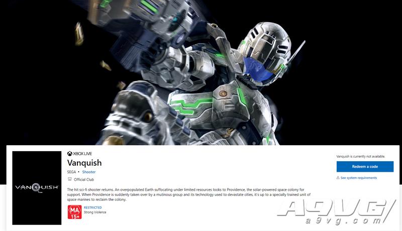 微软商店泄露SEGA科幻射击游戏《征服》高清版发售日