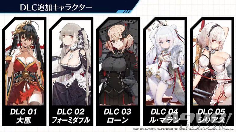 《碧蓝航线Crosswave》公布全部DLC角色及大凤罗恩演示影像