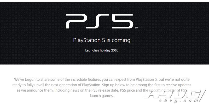 索尼开设PS5专题页面 未来可获取发售日、价格等信息